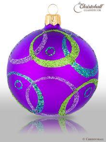 Hypnotic Christbaumkugeln Crazy-Purple
