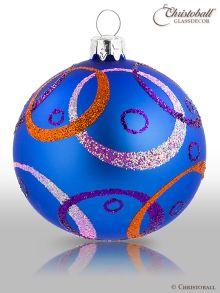 Hypnotic Christbaumkugeln Royal-Blau & Multicolor