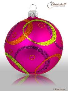 Hypnotic Weihnachtskugel Pretty Pink & Multicolor