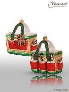 Weihnachtsform aus Glas - Gartentasche