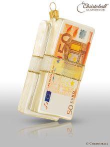Weihnachtsform - Geldschein-Bündel - aus Glas