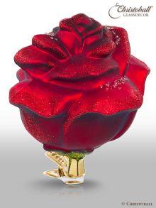 Christbaumkugel Blüte Rose