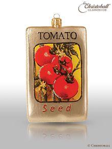Weihnachtsform aus Glas - Tüte Tomaten-Samen