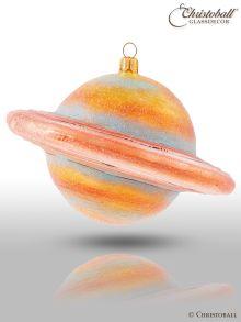 Weihnachtsform aus Glas - Planet Saturn