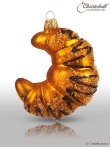 Weihnachtsform aus Glas - Schoko-Croissant
