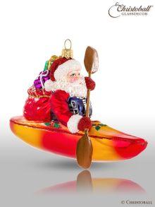 Weihnachtsform - Weihnachtsmann im Kajak / Kanu