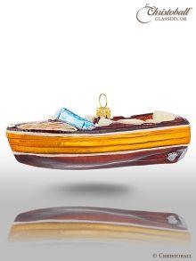 Weihnachtsform Motorboot