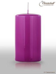Glänzende Lack Kerze 130/70mm, Pflaumen-Violett