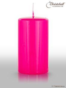 Klarlack Kerze pink