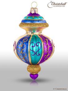 Magic Oriental Weihnachtskugel Form 1 Lila Blau Gold