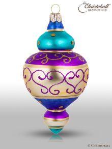 Magic Oriental Weihnachtskugel Form 4 Lila Blau Gold