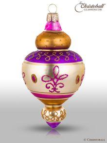 Magic Oriental Weihnachtskugel Form 4 Pink Lila Braun