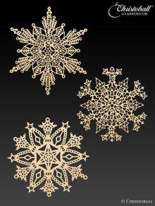 Metallkunst Schneeflocken Set 1