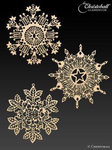 Metallkunst Schneeflocken 2