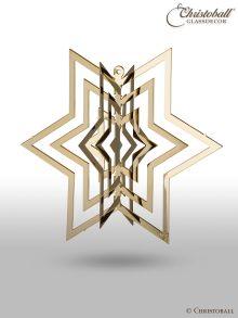 Metallkunst - vergoldetes Ornament Strahlen-Stern