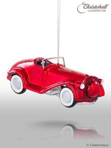 Weihnachtsform Oldtimer Auto rot