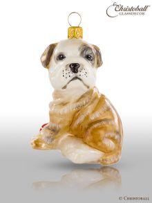 Weihnachtsfigur - Englische Bulldogge - Welpen, Hund
