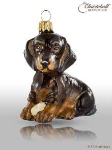 Weihnachtsfigur - Dackel-Welpen, Hund