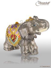 Weihnachtsform - Elefant - mit Swarovski-Kristallen
