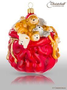 Weihnachtsform Nostalgia by Christoball - Geschenke-Sack mit Teddy-Bären