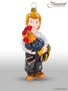 Mostowski Collection - Junge mit einem Hahn - nostalgisch