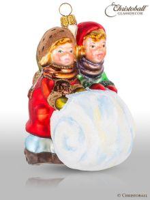 Weihnachtsform Kinder mit Schneekugel - viktorianisch