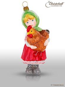 Mostowski Collection - Mädchen mit einer Henne - nostalgisch
