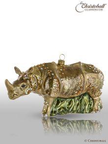 Weihnachtsform - Nashorn - mit Swarovski-Kristallen