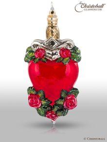 Weihnachtsfigur, Weihnachtskugel - Stabbed Heart - Kollektion Tattoo ´n Roses