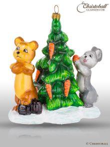Mostowski Collection - Teddy und Hase mit Mörchen-Tannenbaum