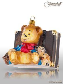 Mostowski Collection - Teddy und Igel mit Reisekoffer - nostalgisch