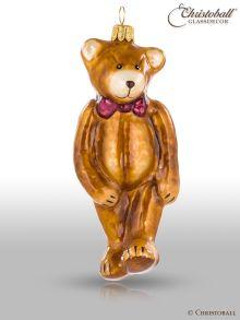 Weihnachtsfigur - Teddy Bär mit roter Schleife