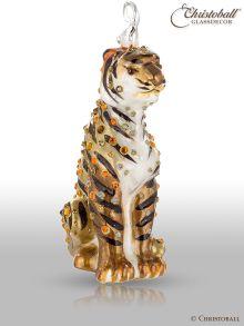 Weihnachtsform - Tiger - mit Swarovski-Kristallen