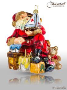 Weihnachtsfigur, Weihnachtsform - Weihnachtsmann mit Segelschiff - viktorianisch