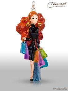 Glasform Einkaufs-Queen auf Shopping Tour