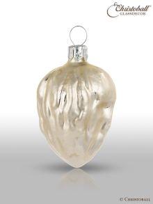 Weihnachtsform - Walnüsse 6er Antique-Silber