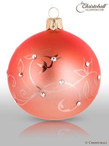 Crystalique Ombrée - Christbaumkugeln mit Swarovski-Kristallen Apricot-Koralle