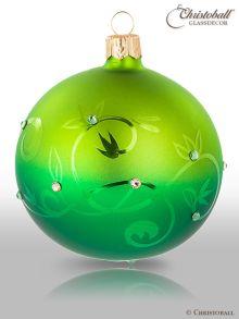 Crystalique Ombrée Christbaumkugel grün