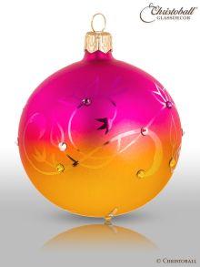 Ombrée - Christbaumkugeln mit Swarovski-Kristallen Sunny-Pink