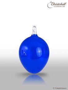 Oster-Ei Glas-Ei royal-blau mittel