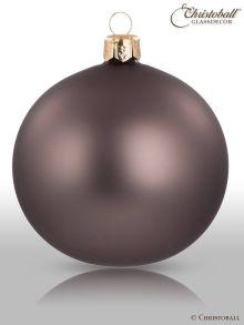 Weihnachtskugel Pure Colour L Greige Grau-Beige