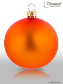 Weihnachtskugel Happy-Orange