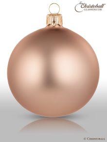 Pure Colour Weihnachtskugel L Kaschmir-Beige