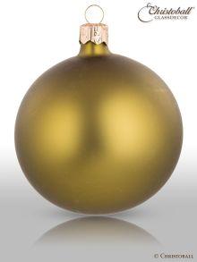 Pure Colour M Weihnachtskugel 4er / Olivgrün