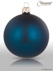 Pure Colour Weihnachtskugel Petrol - Blau