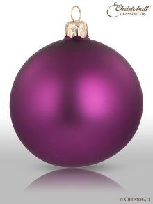 Weihnachtskugel Pure Colour L Violett, Pflaume