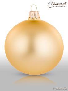 Pure Colour L Weihnachtskugel 6er / Hellgold