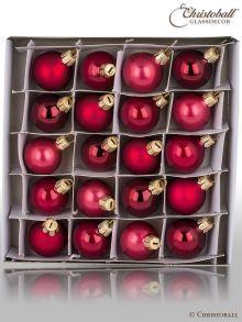 Minis Weihnachtskugeln Bordeaux, Bordeaux-Rot-Töne