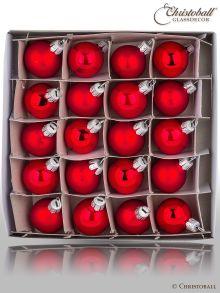 Minis Weihanchtskugeln Les Rouges, Rot-Töne