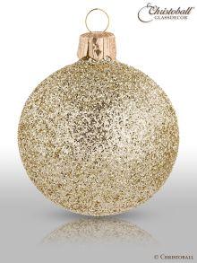 Weihnachtskugeln Pure Glamour 6er / Hellgold Glam